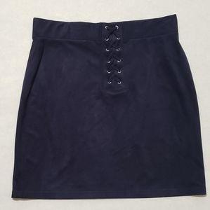 Forever 21 Dark Blue Body Con Skirt Size L